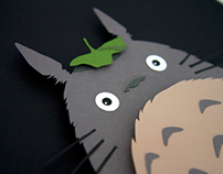 Totoro - Studio Ghibli - hand cut 3D paper craft