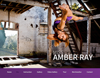 Miss Amber Ray website redesign