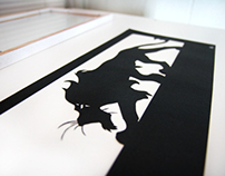 Scar - Lion King - hand cut paper - cut from one sheet.