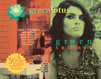 """Green Lotus"" Brochure Mockup (w/ content)"