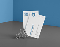 Azure Business Card Duo