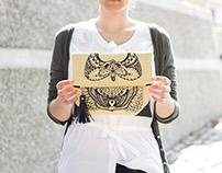 hand screen printed purses
