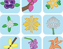 Edible Flowers Symbol Set