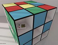 Rubook, the Rubik bookcase