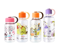 Illustrations on BROS Bottle