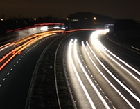 M1 Motorway At Night