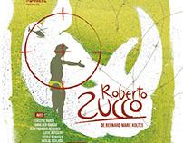 """Affiche de théâtre """"Roberto Zucco"""""""