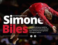 Os movimentos de Simone Biles