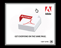 "Adobe Acrobat "" work together better"" banners"