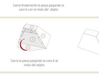 Infografía de armado Paper Toy