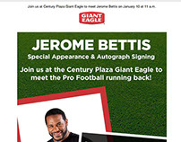 Giant Eagle Celebrity Store Visit Email