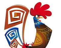Diseño de personaje Gallo Carmelo