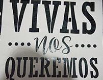Stencil Vivas nos queremos
