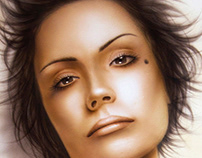 Portraits (Airbrushing on paper)