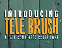 TELE BRUSH - FREE TALL CONDENSED BRUSH FONT