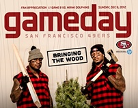 49ERS 2012 GAMEDAY MAG COVERS