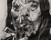 Danny Trejo Ball point pen drawing