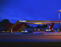 FRONTIER FILLING STATION - DESIGN+3D VISUALIZATION