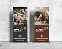 Free Advertising Roll-Up Banners Mockup