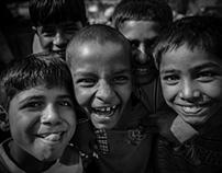 Children of The Industrial Area in Delhi