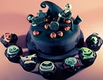 The Nightmare Before Christmas Cake & Cupcakes
