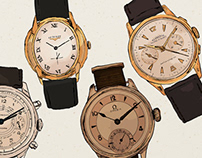 Antique Watches Illustration
