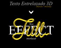 """""""TEXTO ENTRELAZADO 3D"""" (Blend Tool)"""