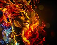 Flaming lady