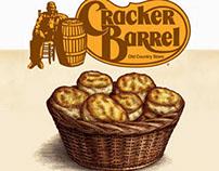 Cracker Barrel Campaign Illustrations by Steven Noble