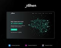 Xehen Website UI/UX