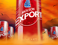 Molson Ex TallBoy Poster Illustration