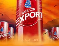 Molson Ex TallBoy Poster Illustration