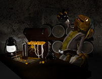 Iguana Pirate: Character Modeling