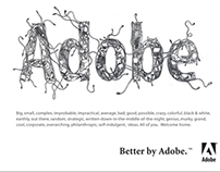 Adobe brand WSJ news paper ad