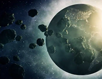 Motion Graphics - Planet Asteroid Field