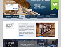 Starwood Hotels & Resorts Corporate Site Design