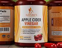 Apple Cider Vinegar Label Design