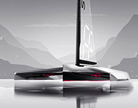 Autonomous trimaran Faraday Future SP01