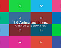 Social Media Icons Pack - After Effects (100% FREE)