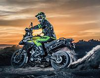 Suzuki V-Strom 1000 photoshoot with Stefan Everts