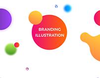 100 - Branding Illustration hand-drawn and Digita l