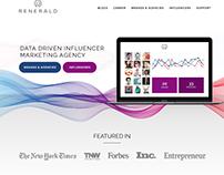 Social Media Influencer Homepage