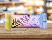 Glossy Snack Bar Free Mockup