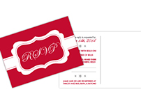 Christmas Themed Wedding Invitation - set