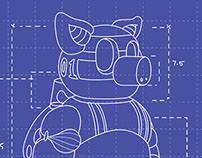The pig bot Technical Illustration