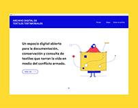 Digital archive of testimonial textiles