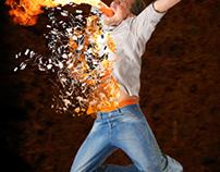 Explosion bullet