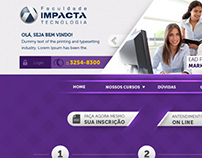 Hotsite EAD - Faculdade Impacta