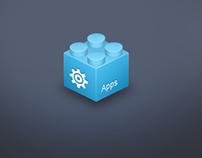 App Toy Brick Concept