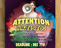 Calling All Artists Flyer